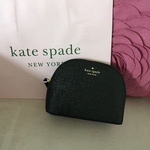 kate spade small dome cosmetic bag black nwt
